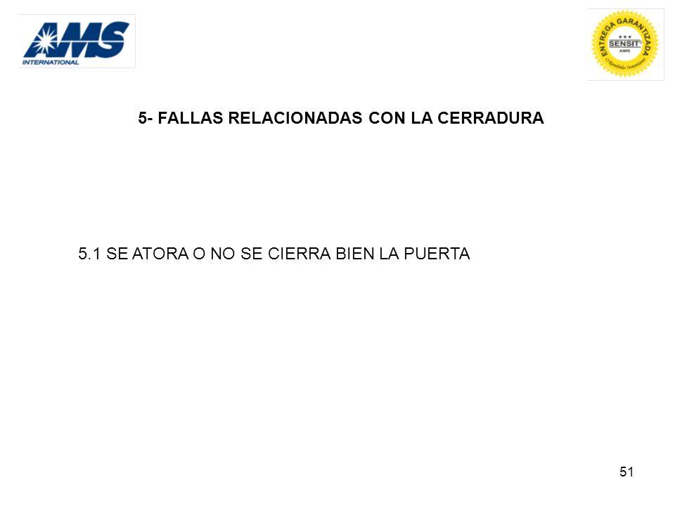 5- FALLAS RELACIONADAS CON LA CERRADURA