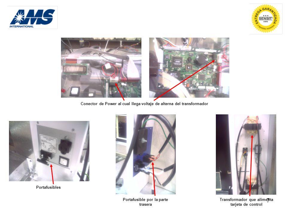 Conector de Power al cual llega voltaje de alterna del transformador
