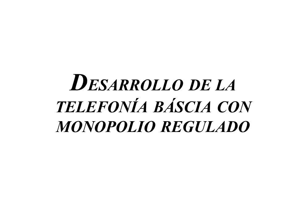 DESARROLLO DE LA TELEFONÍA BÁSCIA CON MONOPOLIO REGULADO