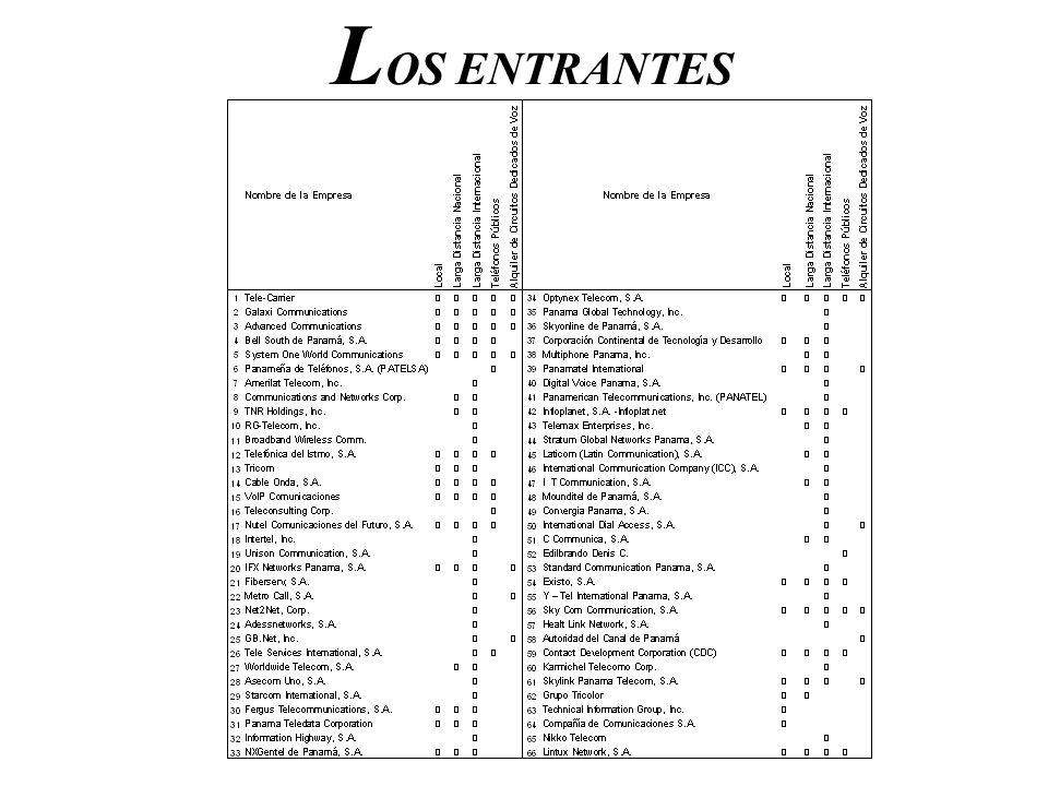 LOS ENTRANTES