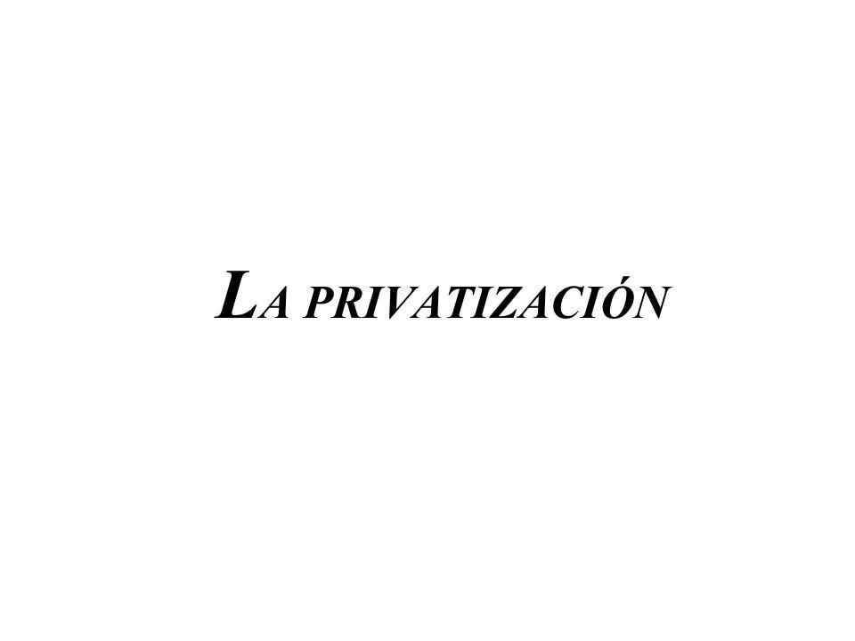 LA PRIVATIZACIÓN