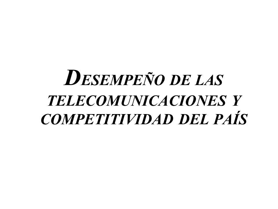 DESEMPEÑO DE LAS TELECOMUNICACIONES Y COMPETITIVIDAD DEL PAÍS