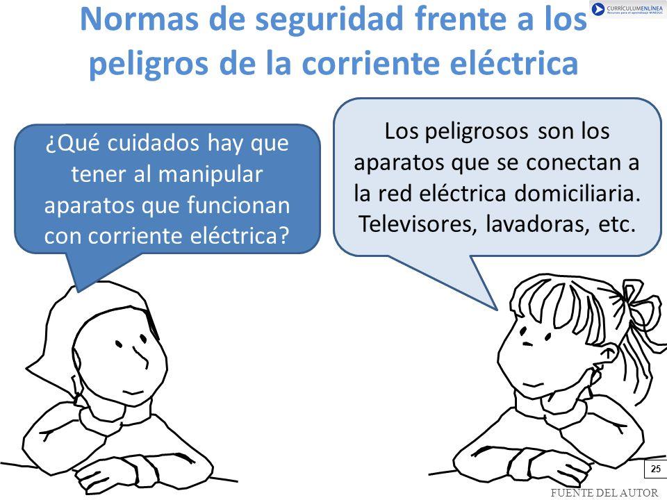 Normas de seguridad frente a los peligros de la corriente eléctrica
