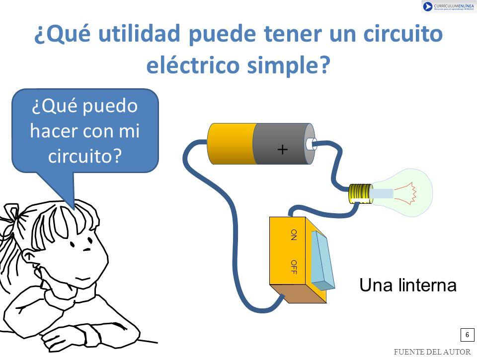 ¿Qué utilidad puede tener un circuito eléctrico simple