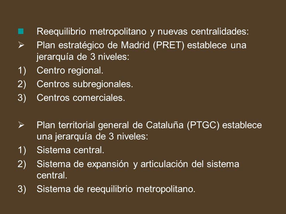 Reequilibrio metropolitano y nuevas centralidades: