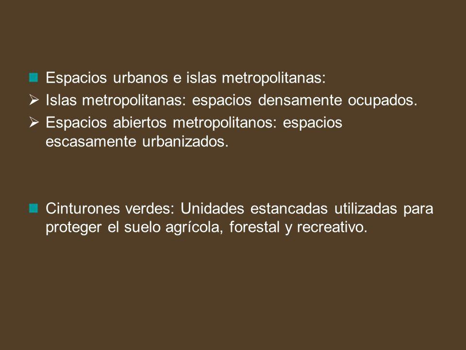 Espacios urbanos e islas metropolitanas: