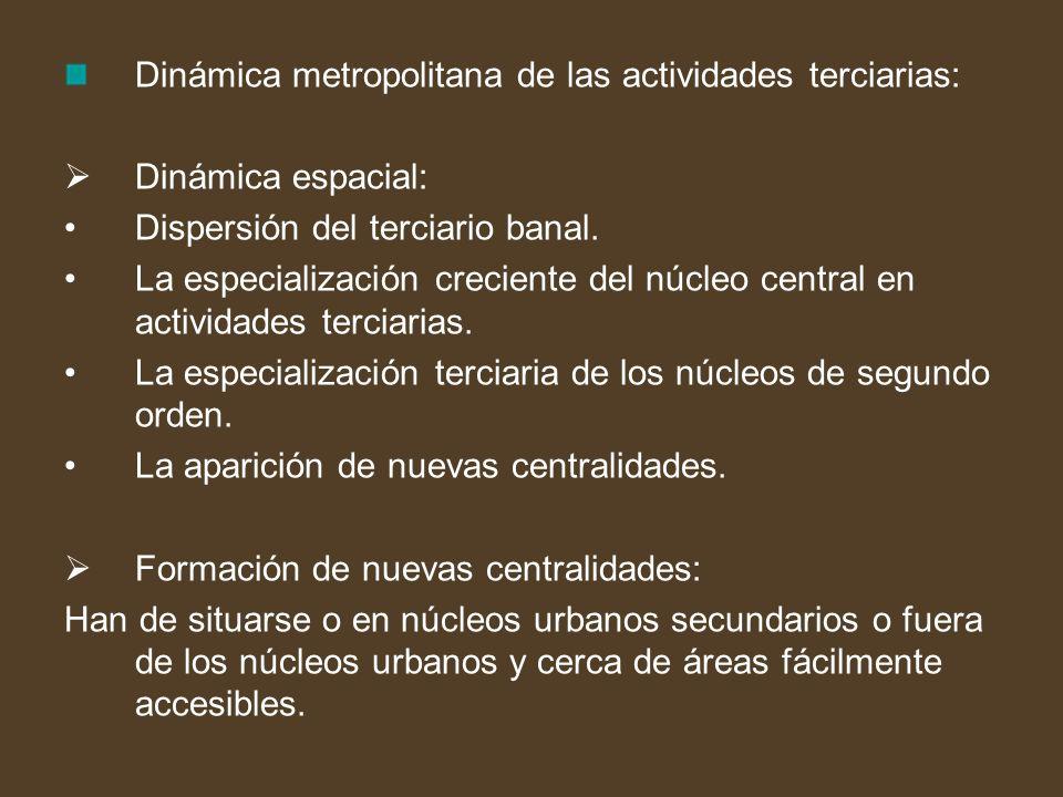 Dinámica metropolitana de las actividades terciarias: