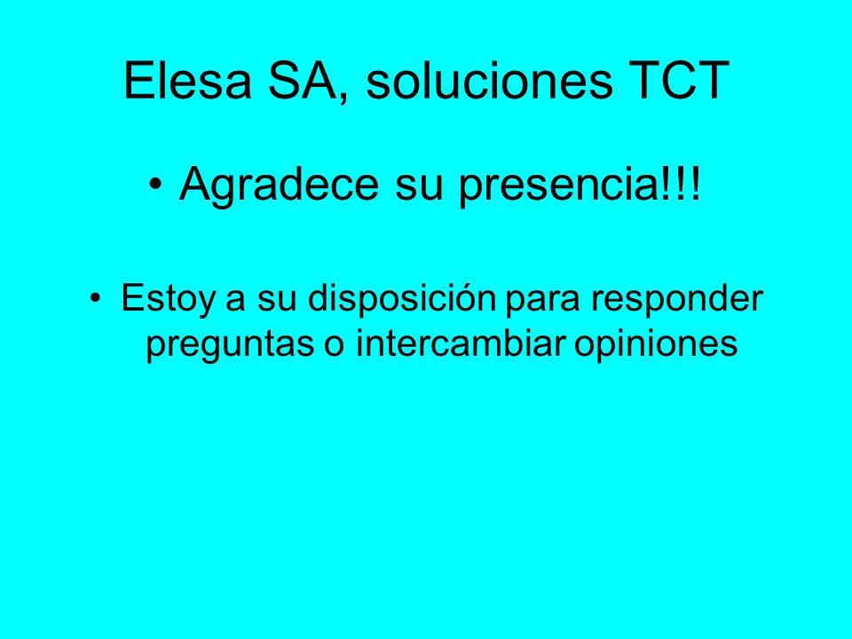 Elesa SA, soluciones TCT