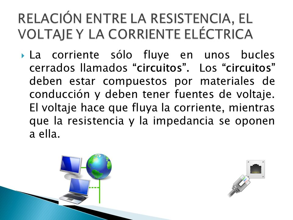 RELACIÓN ENTRE LA RESISTENCIA, EL VOLTAJE Y LA CORRIENTE ELÉCTRICA