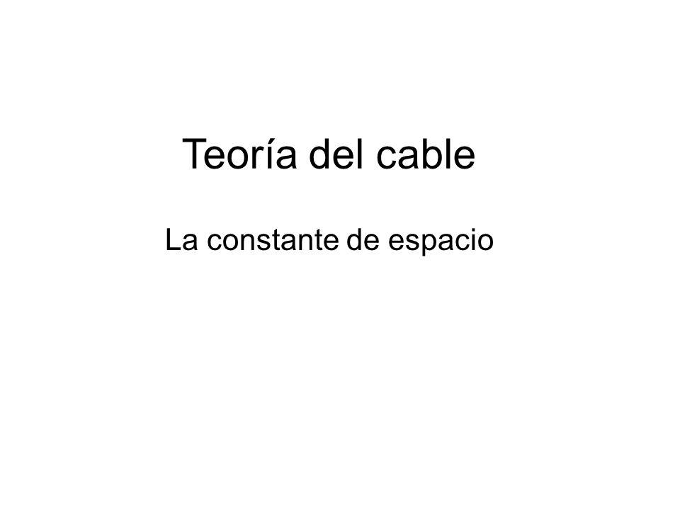 Teoría del cable La constante de espacio