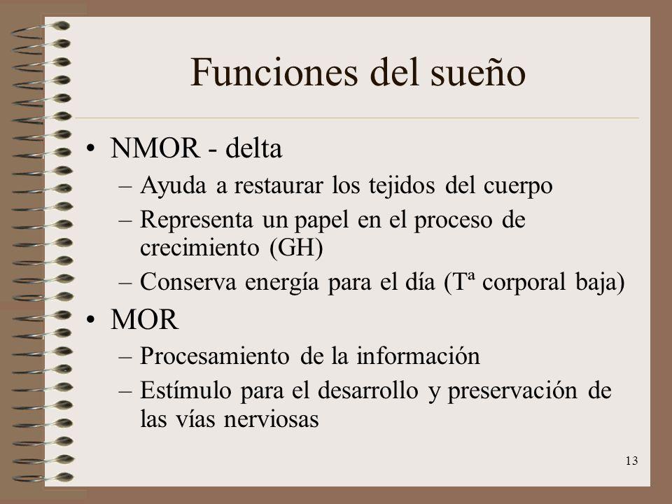 Funciones del sueño NMOR - delta MOR