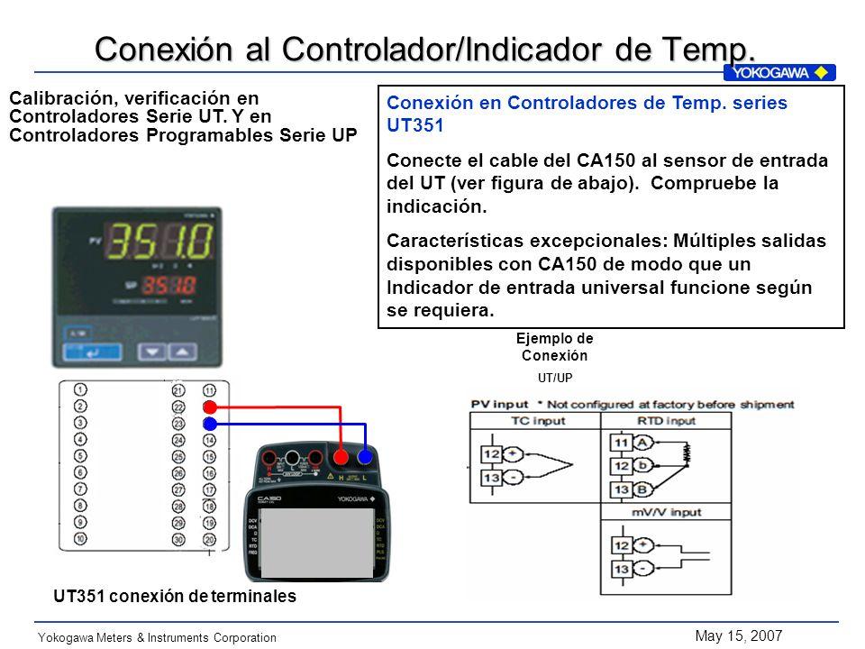 Conexión al Controlador/Indicador de Temp.