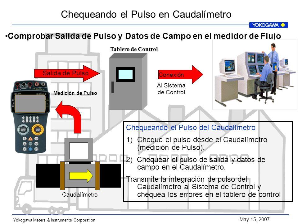 Comprobar Salida de Pulso y Datos de Campo en el medidor de Flujo