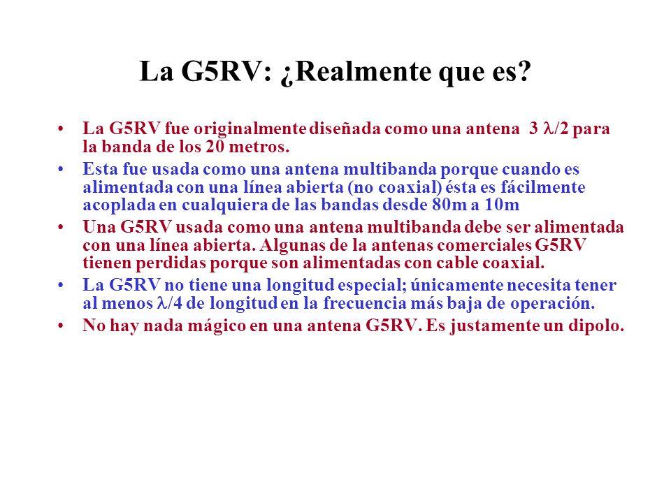 La G5RV: ¿Realmente que es