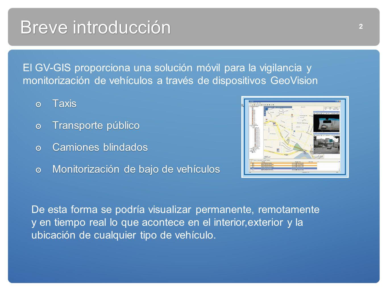 Breve introducción 2. El GV-GIS proporciona una solución móvil para la vigilancia y monitorización de vehículos a través de dispositivos GeoVision.