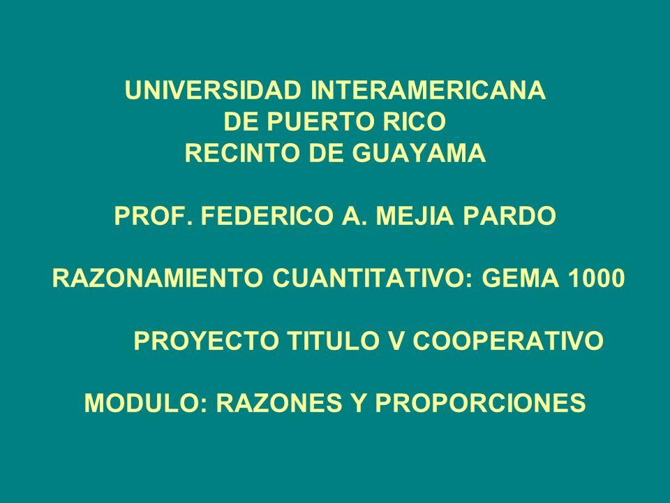 UNIVERSIDAD INTERAMERICANA DE PUERTO RICO RECINTO DE GUAYAMA PROF