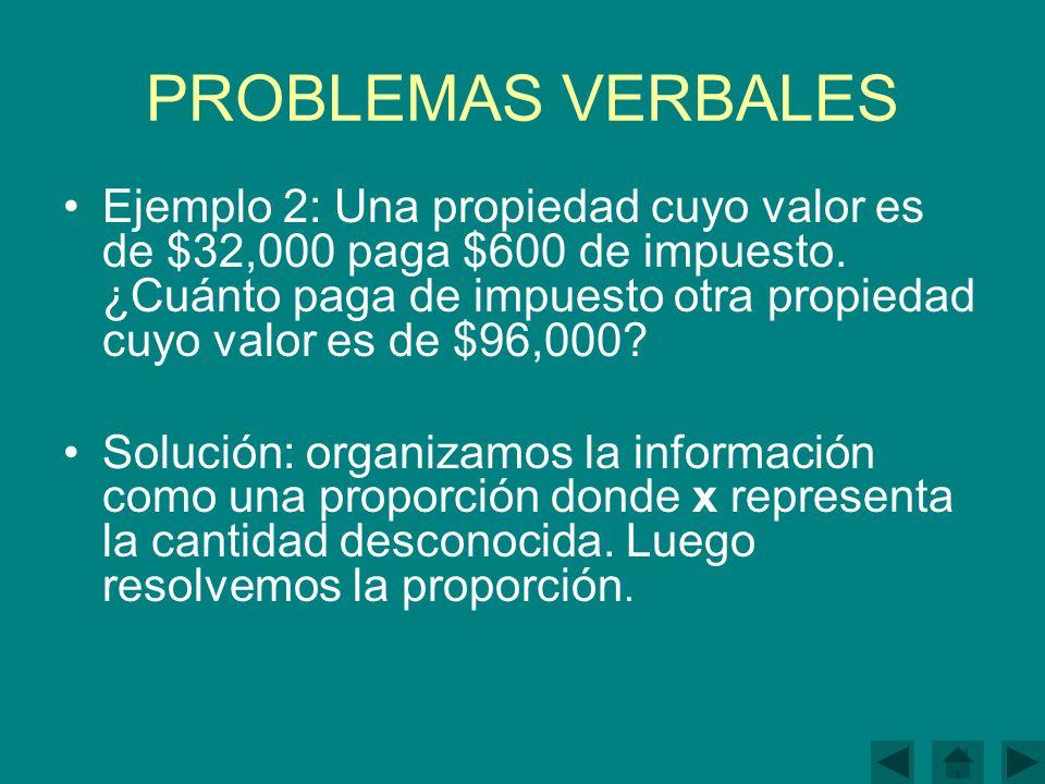 PROBLEMAS VERBALES