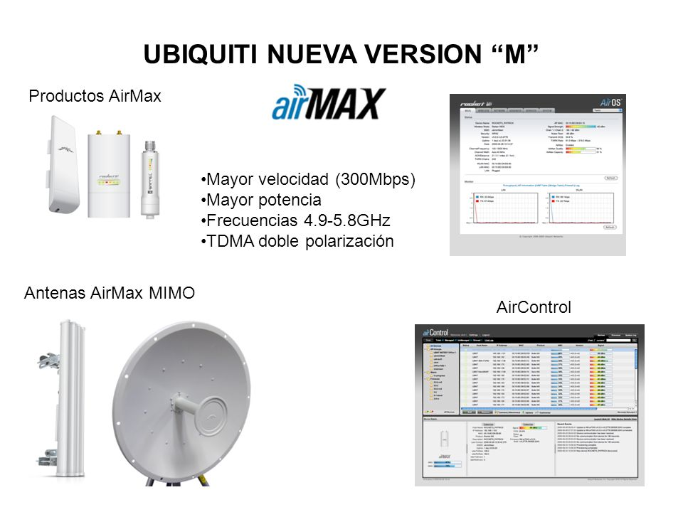 UBIQUITI NUEVA VERSION M