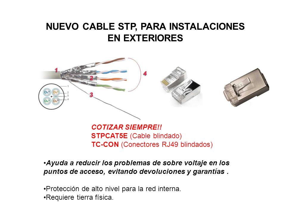 NUEVO CABLE STP, PARA INSTALACIONES EN EXTERIORES