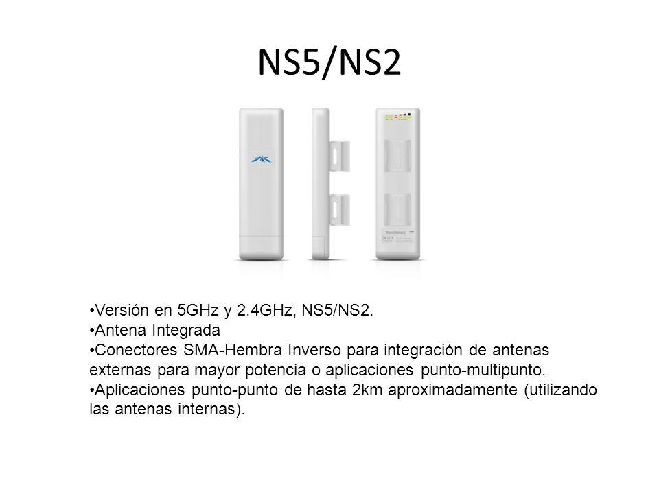 NS5/NS2 Versión en 5GHz y 2.4GHz, NS5/NS2. Antena Integrada