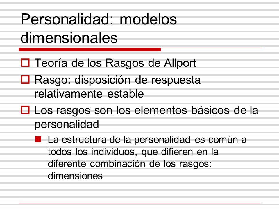 Personalidad: modelos dimensionales