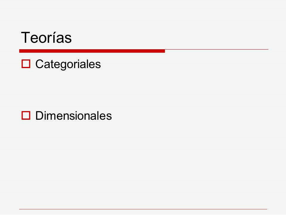 Teorías Categoriales Dimensionales