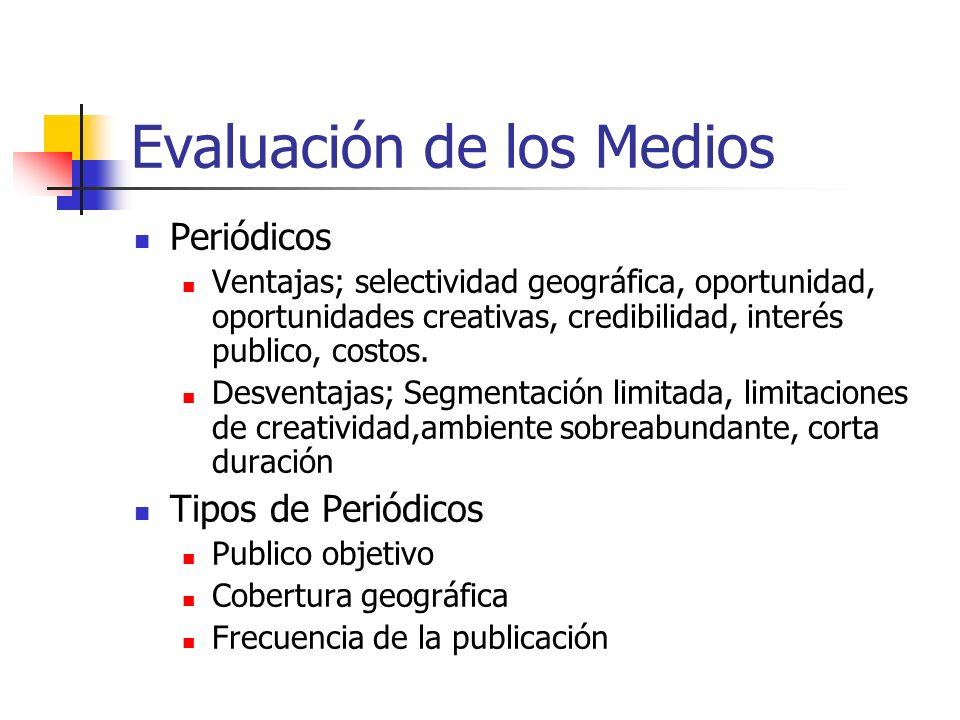 Evaluación de los Medios