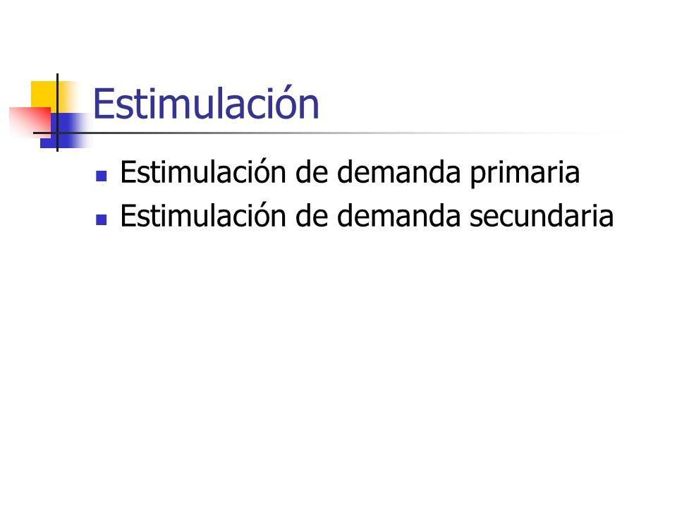 Estimulación Estimulación de demanda primaria