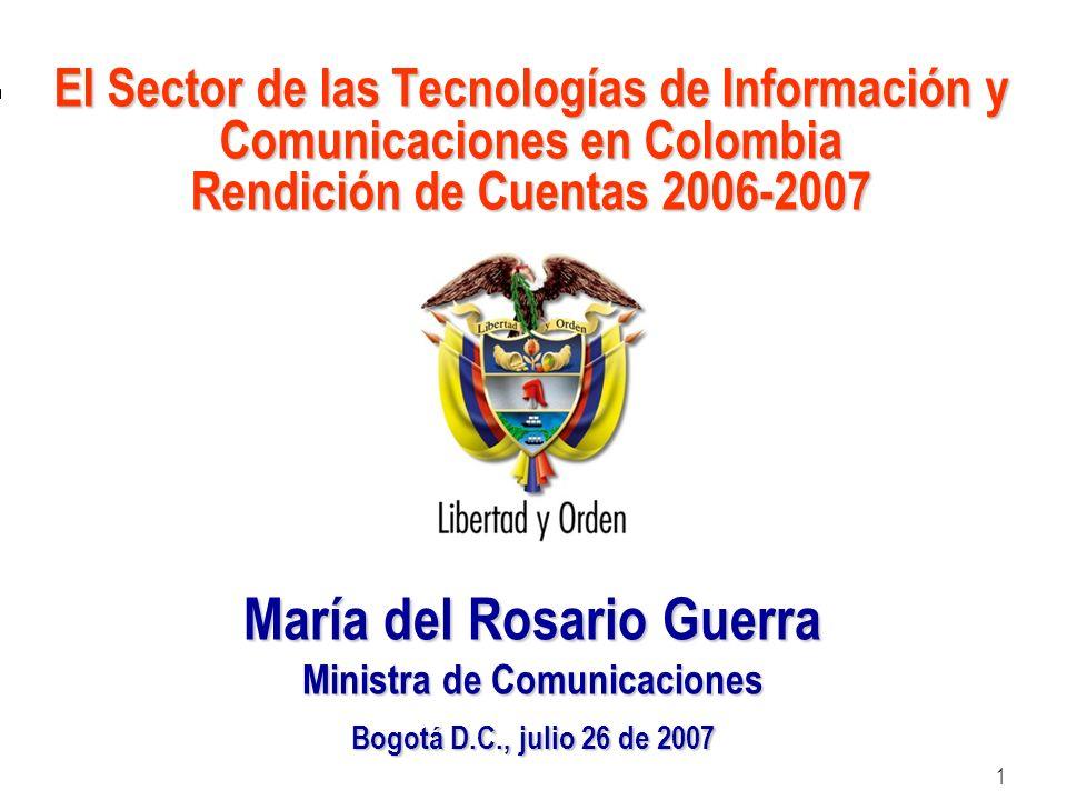 María del Rosario Guerra Ministra de Comunicaciones