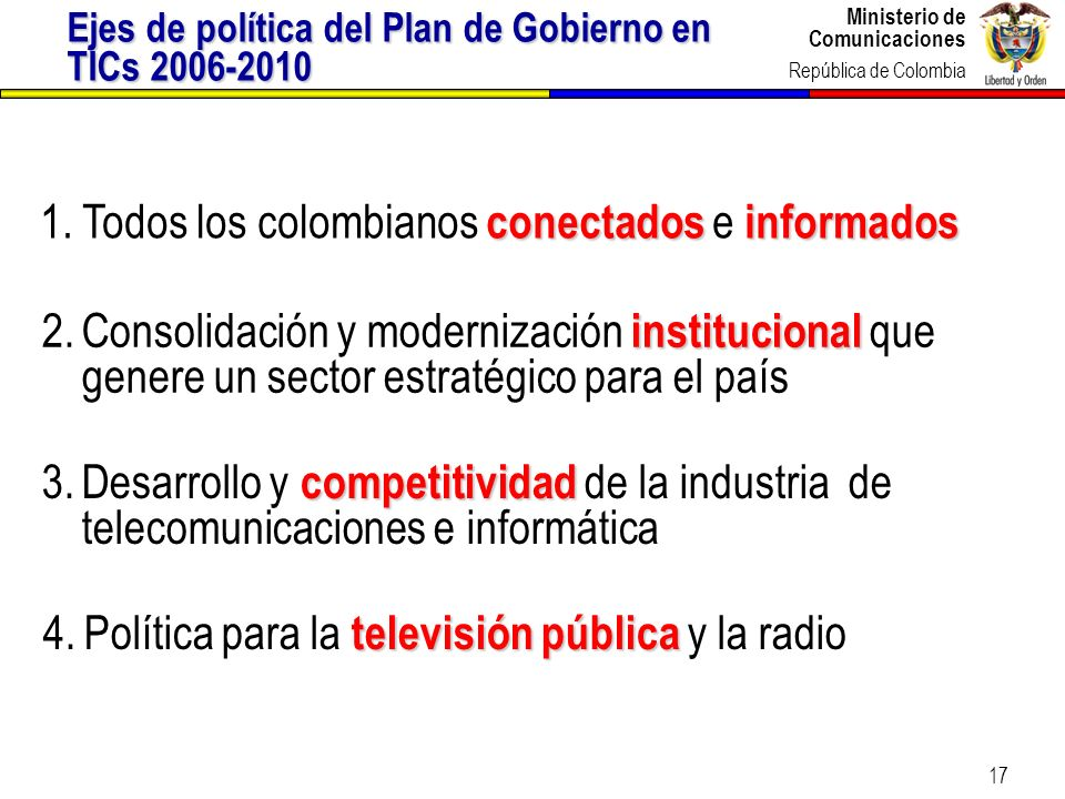 Todos los colombianos conectados e informados