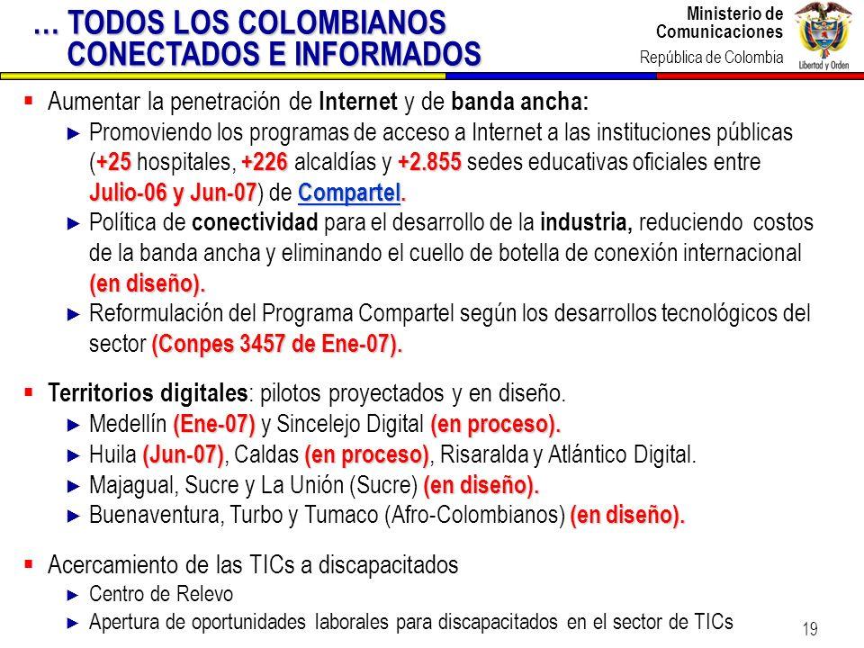 … TODOS LOS COLOMBIANOS CONECTADOS E INFORMADOS