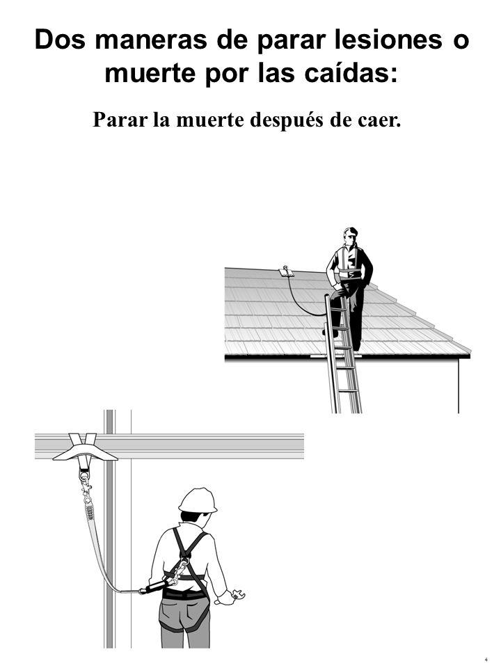 Dos maneras de parar lesiones o muerte por las caídas: