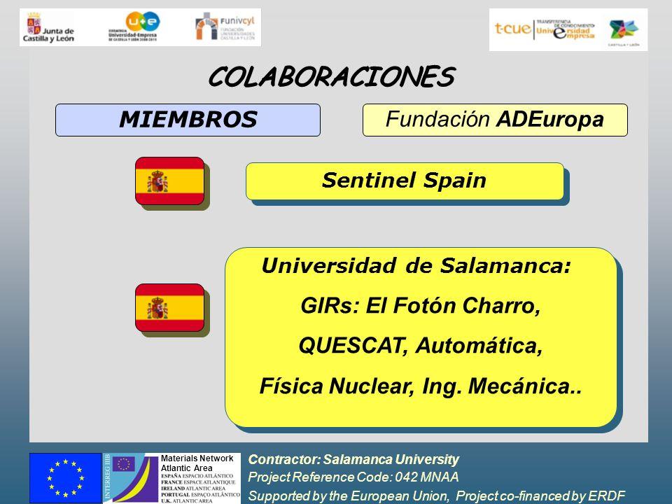 Universidad de Salamanca: Física Nuclear, Ing. Mecánica..