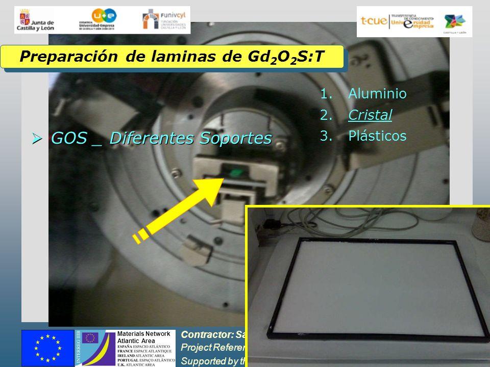 Preparación de laminas de Gd2O2S:T