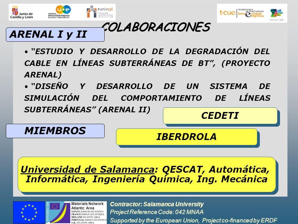 COLABORACIONES ARENAL I y II MIEMBROS CEDETI IBERDROLA