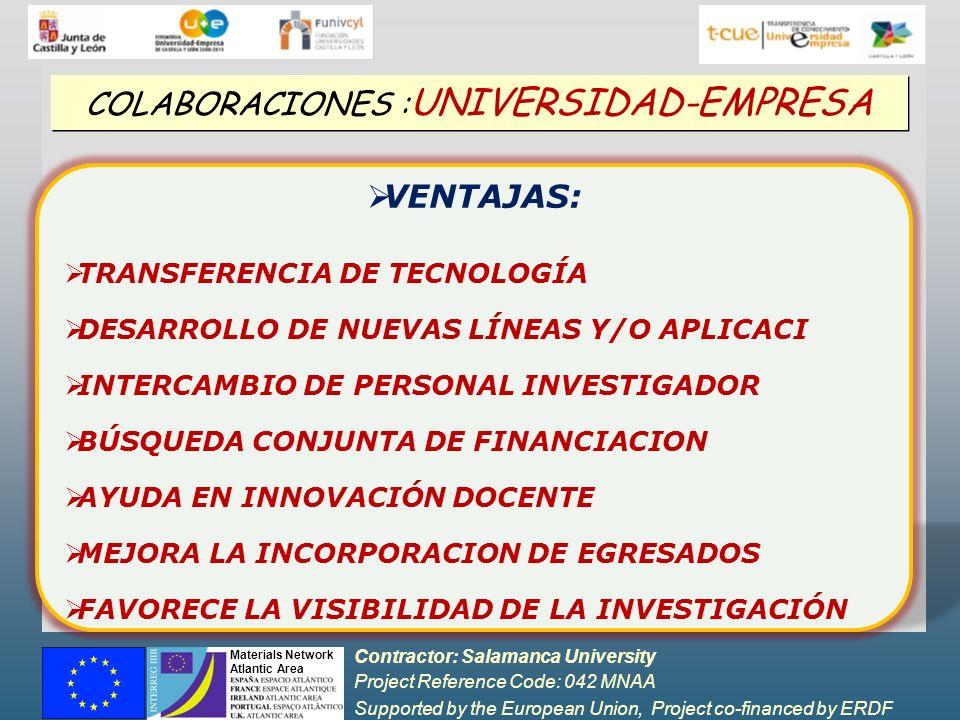 COLABORACIONES :UNIVERSIDAD-EMPRESA