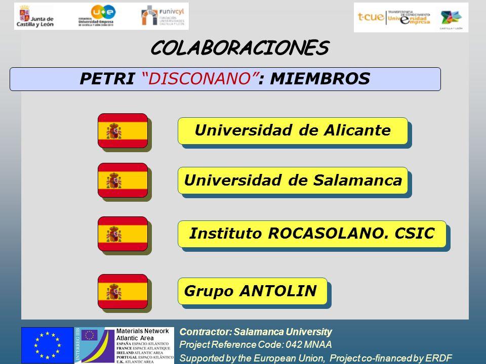 COLABORACIONES PETRI DISCONANO : MIEMBROS Universidad de Alicante