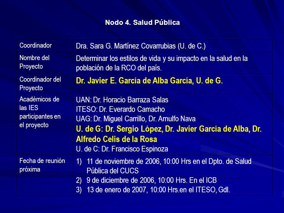Dr. Javier E. García de Alba García, U. de G.