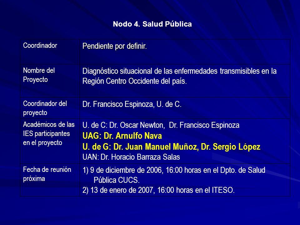 U. de G: Dr. Juan Manuel Muñoz, Dr. Sergio López