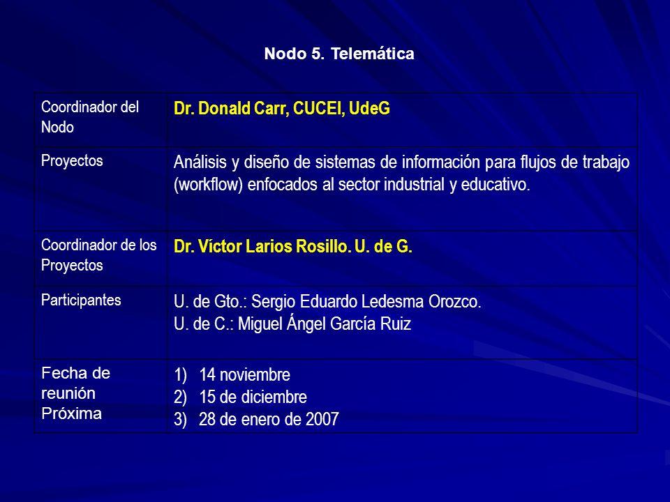 Dr. Donald Carr, CUCEI, UdeG