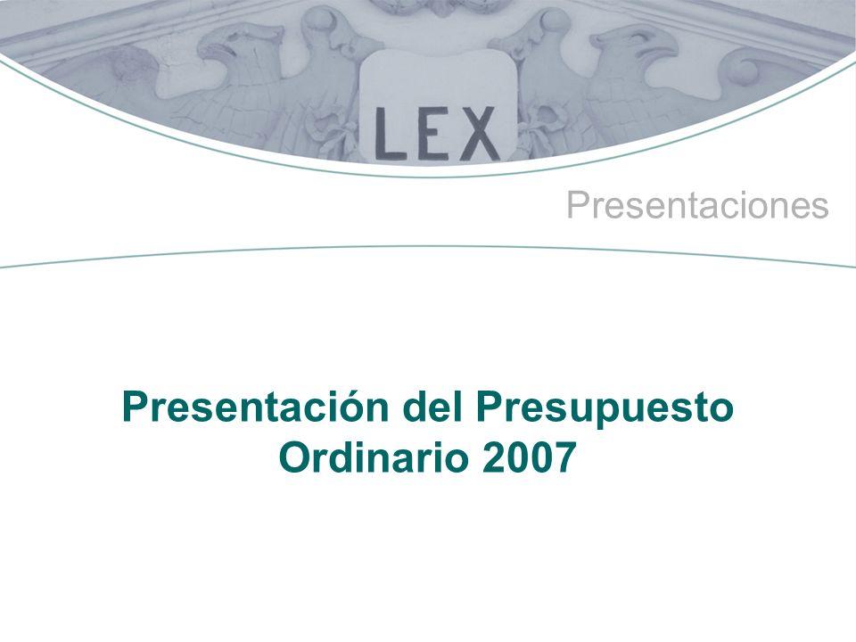 Presentación del Presupuesto Ordinario 2007