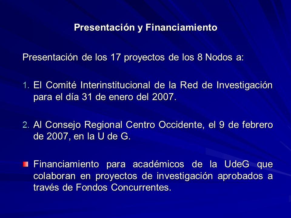 Presentación y Financiamiento