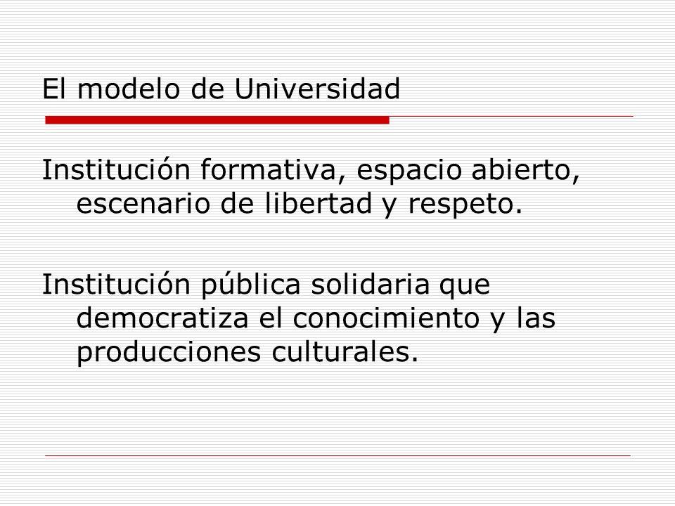 El modelo de Universidad