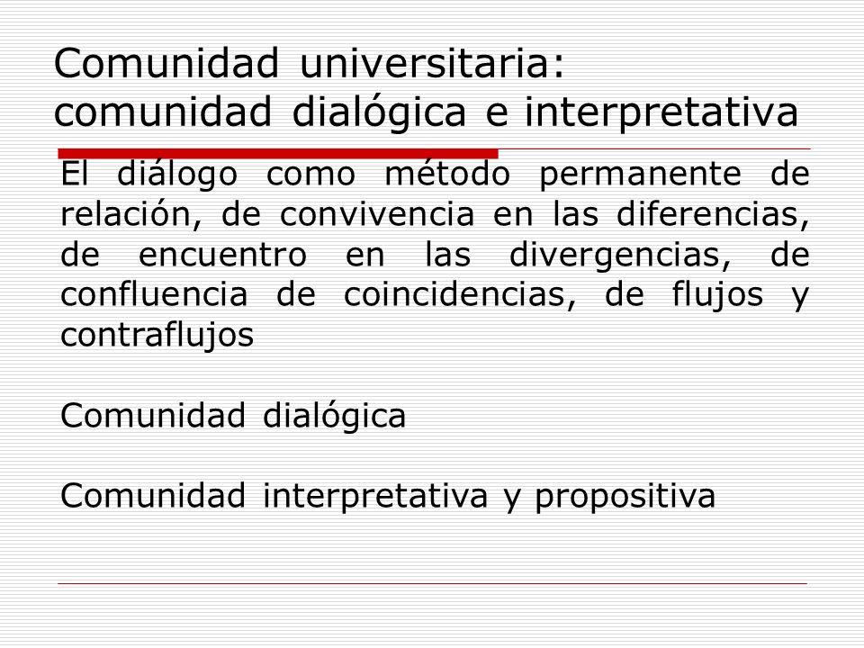 Comunidad universitaria: comunidad dialógica e interpretativa