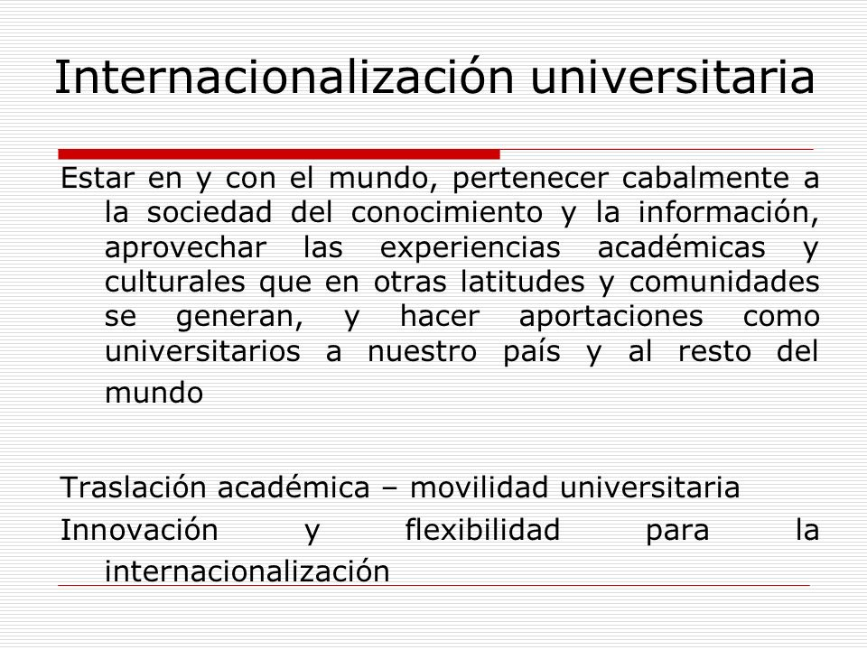 Internacionalización universitaria