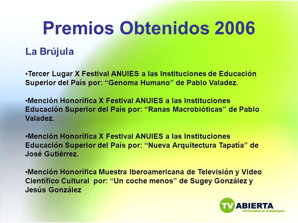 Premios Obtenidos 2006 La Brújula