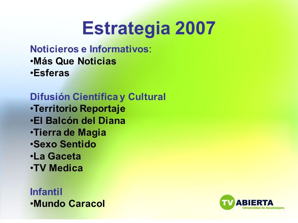Estrategia 2007 Noticieros e Informativos: Más Que Noticias Esferas
