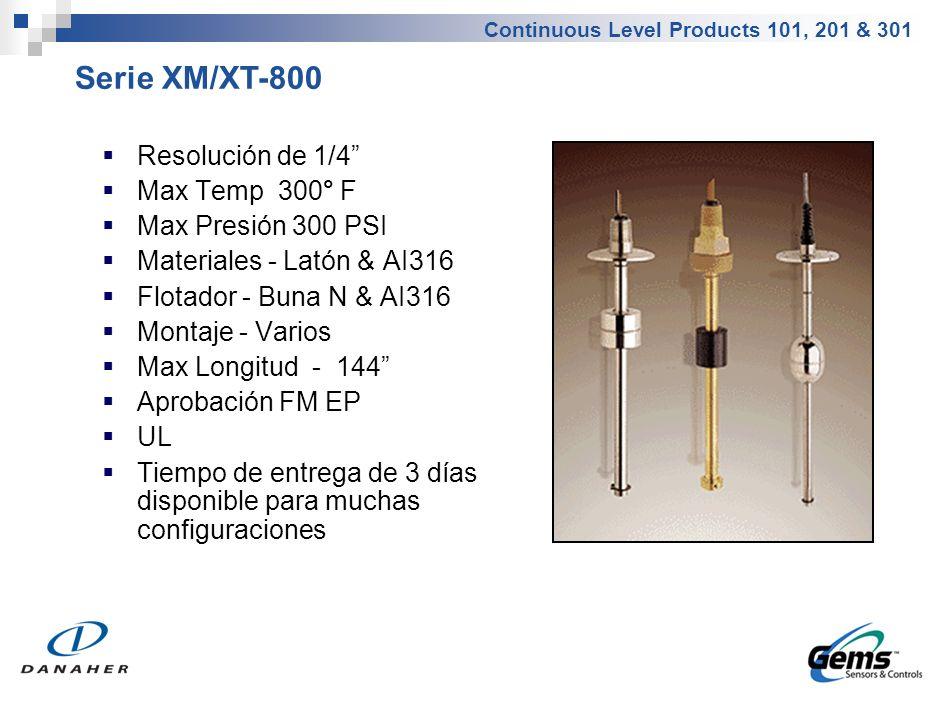 Serie XMP/XTP-800 Resolución de 1/4