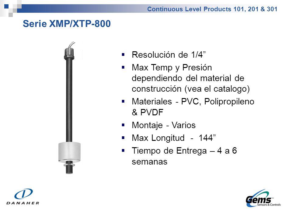 Serie XM/XT-66400 Montaje 4 NPT (CS o SS) Varilla de AI316