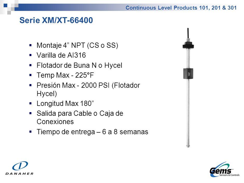 Serie XM/XT-36490 Brida de 4 , 5 o 6 (CS o SS) Varilla de AI316
